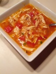 Chicken tortilla soup, sans tortilla